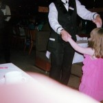 Dancing with the dinner staff