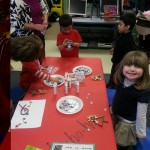 Making Xmas stuff in Ivy's PreK classroom