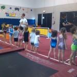 Ivy at Gymnastics class!