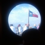 Looking out a porthole