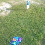 Mom crashes a kite