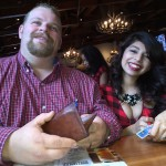 James and a waitress at Twin Peaks