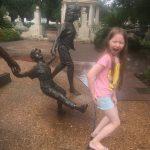 Statue kickin' Ivy's butt