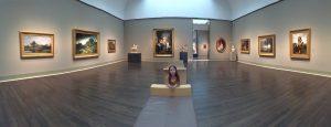 Panoramic shot inside Museum