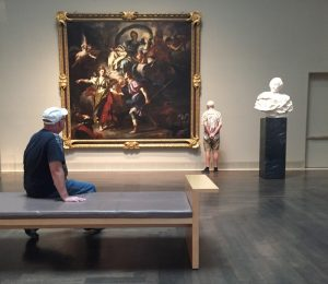 Me pretending to contemplate this work of art.  Really just sitting down.