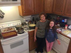 Grandma and grandaughter