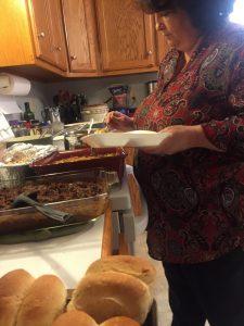 Glenda steps up to the plate