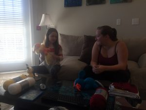 Ivy talking Pokemon with Tiffany