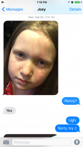 She doesn't know how to play with children, so she ended up scratching Ivy's face.